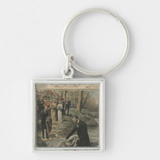 An Adventist baptism in La Marne Silver-Colored Square Key Ring