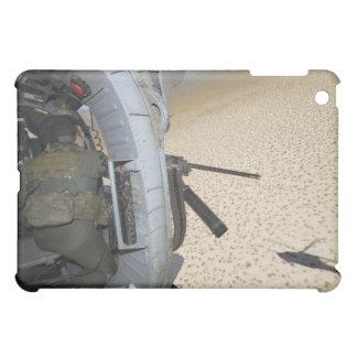 An aerial gunner scans terrain case for the iPad mini