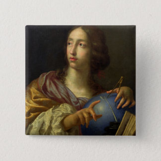 An Allegory of Astronomy 15 Cm Square Badge
