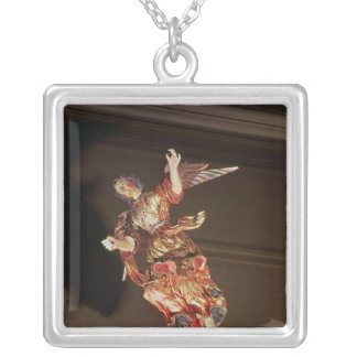 An angel above the altarpiece silver plated necklace