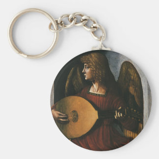 An Angel in Red with a Lute by Leonardo da Vinci Key Ring