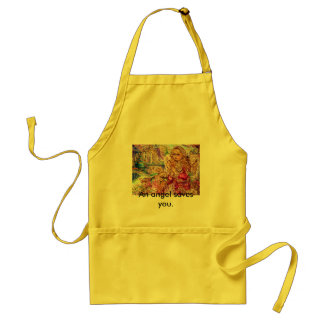 An angel of praying., An angel saves you. Standard Apron