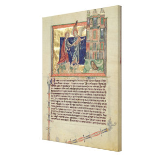 An angel showing the New Jerusalem Canvas Print