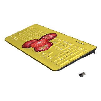 An apple a day keeps the doctor away key board. wireless keyboard
