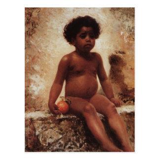 An Arab boy with an orange by Konstantin Makovsky Postcard