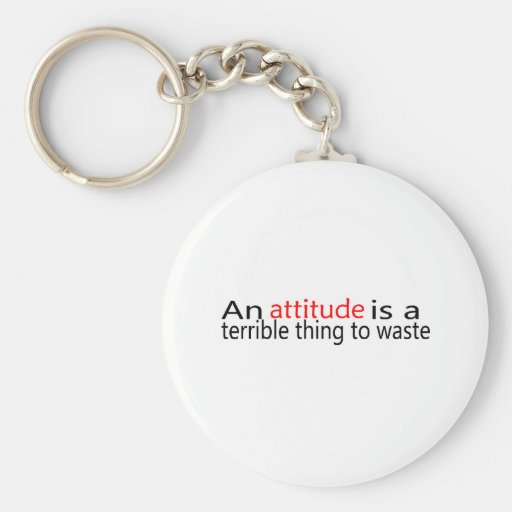 An Attitude Is A Terrible Thing To Waste Keychain