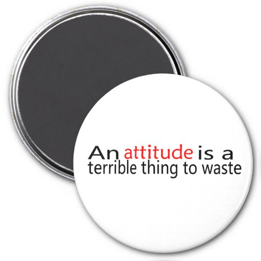 An Attitude Is A Terrible Thing To Waste Fridge Magnets
