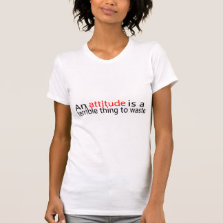 An Attitude Is A Terrible Thing To Waste T-shirts