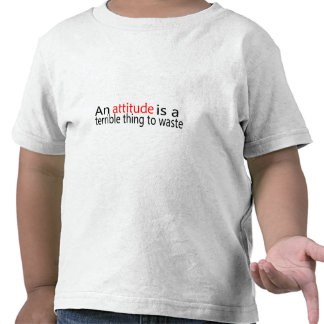 An Attitude Is A Terrible Thing To Waste Tshirt
