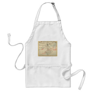 An Authentic 1690 Pirate Map (with embellishments) Adult Apron