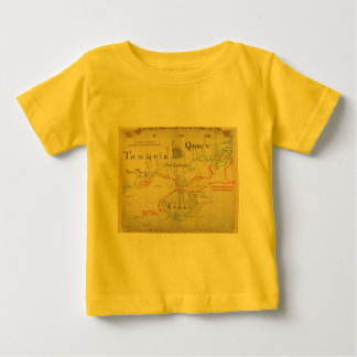 An Authentic 1690 Pirate Map (with embellishments) Baby T-Shirt