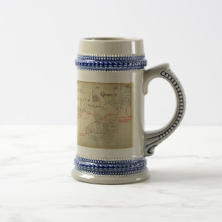 An Authentic 1690 Pirate Map (with embellishments) Beer Steins