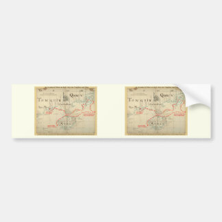 An Authentic 1690 Pirate Map (with embellishments) Car Bumper Sticker