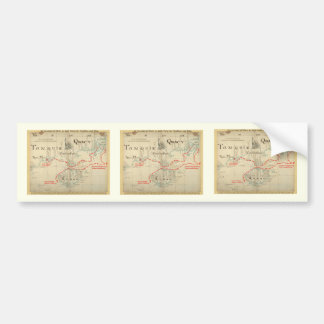 An Authentic 1690 Pirate Map (with embellishments) Bumper Sticker