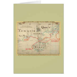 An Authentic 1690 Pirate Map (with embellishments) Greeting Card