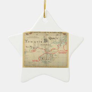 An Authentic 1690 Pirate Map (with embellishments) Ceramic Star Decoration