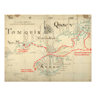 An Authentic 1690 Pirate Map (with embellishments) 21.5 Cm X 28 Cm Flyer