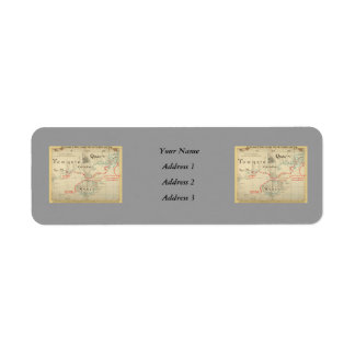 An Authentic 1690 Pirate Map (with embellishments) Return Address Label