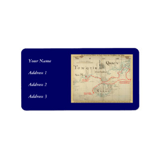 An Authentic 1690 Pirate Map (with embellishments) Address Label
