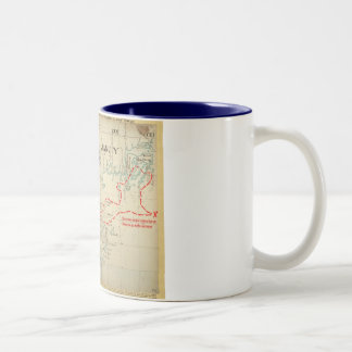 An Authentic 1690 Pirate Map (with embellishments) Two-Tone Coffee Mug