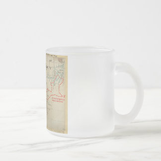 An Authentic 1690 Pirate Map (with embellishments) Frosted Glass Mug