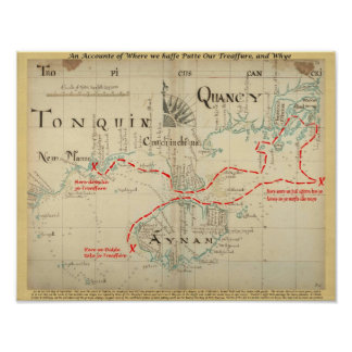 An Authentic 1690 Pirate Map (with embellishments) Poster