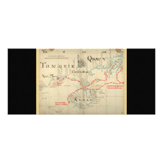 An Authentic 1690 Pirate Map (with embellishments) Full Color Rack Card