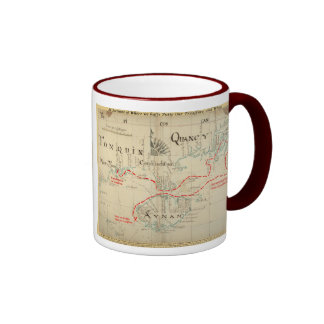 An Authentic 1690 Pirate Map (with embellishments) Ringer Mug
