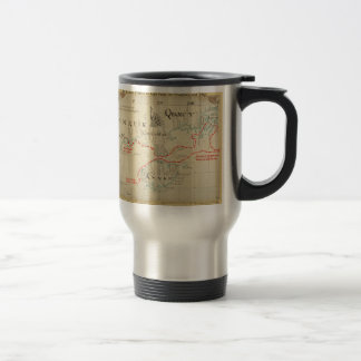 An Authentic 1690 Pirate Map (with embellishments) Stainless Steel Travel Mug