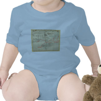 An Authentic 1690 Pirate Map (with embellishments) Bodysuits