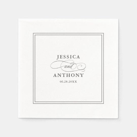 An Elegant Affair Wedding Flourishes Paper Serviettes