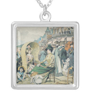 An Elegant Beach, 1887 Silver Plated Necklace