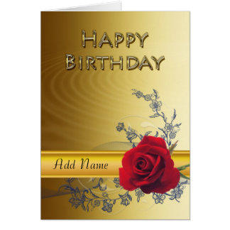 An elegant birthday card that you can customize