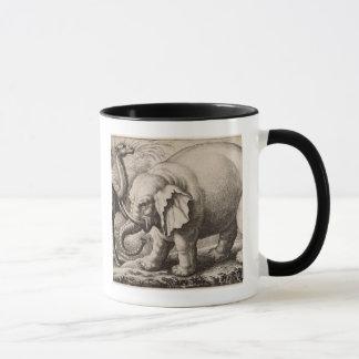 An Elephant and a Camel, engraved by Wenceslaus Ho Mug