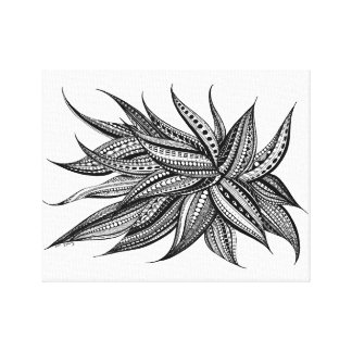 An enchanting patterned flower canvas print