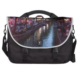 An evening in Amsterdam Laptop Messenger Bag