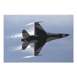 An F-16 Fighting Falcon pulls high G's Photo Print