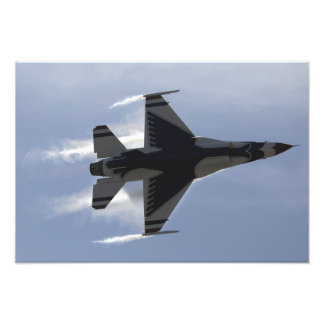 An F-16 Fighting Falcon pulls high G's Photo Print