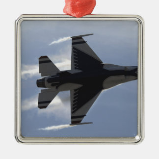 An F-16 Fighting Falcon pulls high G's Silver-Colored Square Decoration