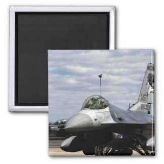An F-16 Fighting Falcon Square Magnet