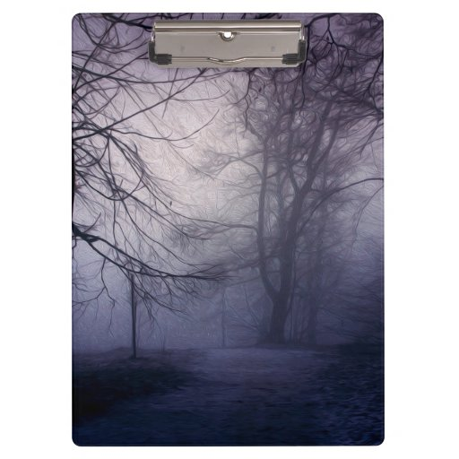 An image of a beautiful forest with fog clipboard