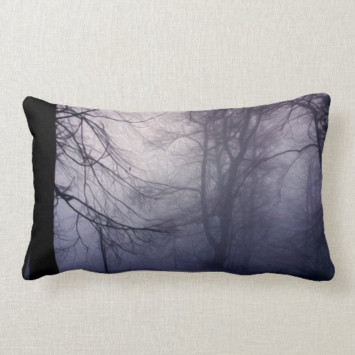 An image of a beautiful forest with fog pillow