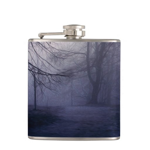 An image of a beautiful forest with fog flasks