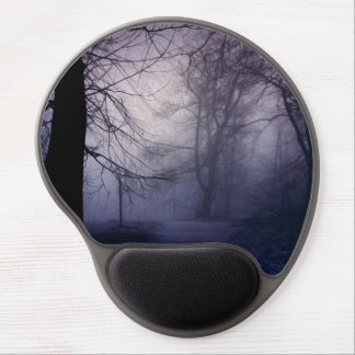 An image of a beautiful forest with fog gel mouse pads
