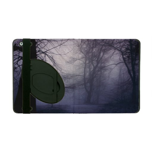 An image of a beautiful forest with fog iPad cover