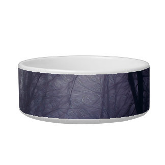 An image of a beautiful forest with fog pet food bowls
