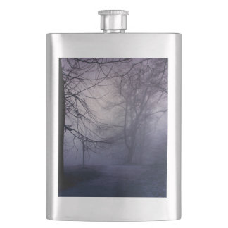 An image of a beautiful forest with fog flask