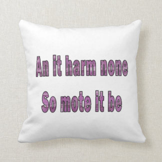 an it harm none purple texture outline pagan.png cushions