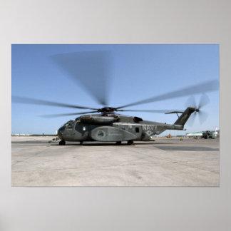 An MH-53E Sea Dragon helicopter Poster