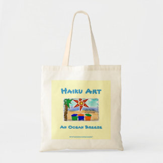An Ocean Breeze Haiku Art Grocery Tote Bag